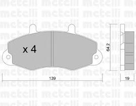 2201940 METELLI Комплект тормозных колодок, дисковый тормоз