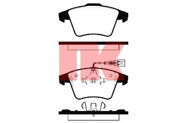 Комплект тормозных колодок, дисковый тормоз NK 224761