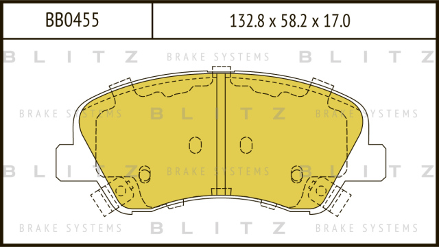 Колодки тормозные дисковые BLITZ BB0455