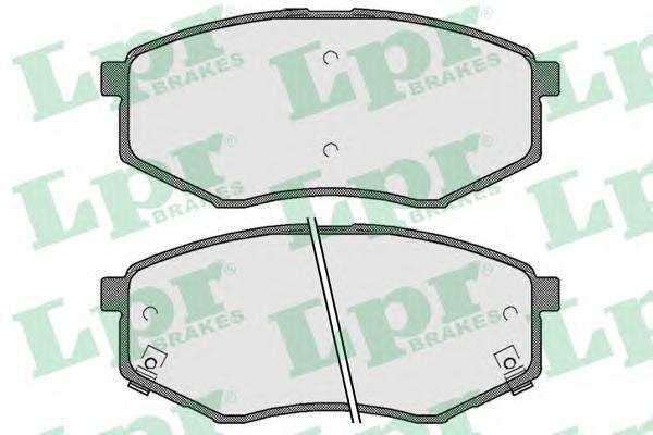 05P1757 LPR Комплект тормозных колодок