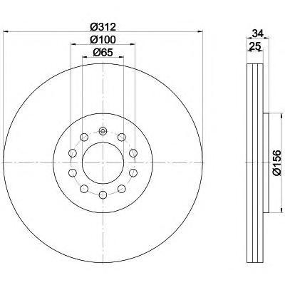 Тормозной диск TEXTAR 92098503