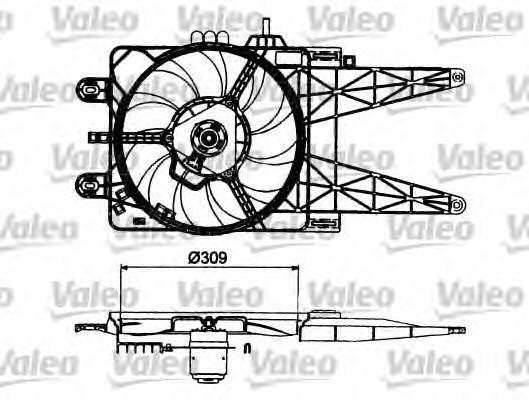 698483 VALEO Электродвигатель, вентилятор радиатора