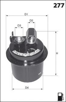 Топливный фильтр MECAFILTER ELE6024