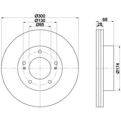 92203003 TEXTAR Тормозной диск