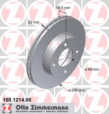 Тормозной диск ZIMMERMANN 100121400