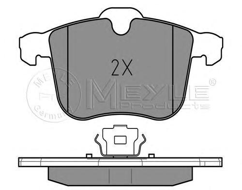 0252340419 MEYLE Комплект тормозных колодок, дисковый тормоз