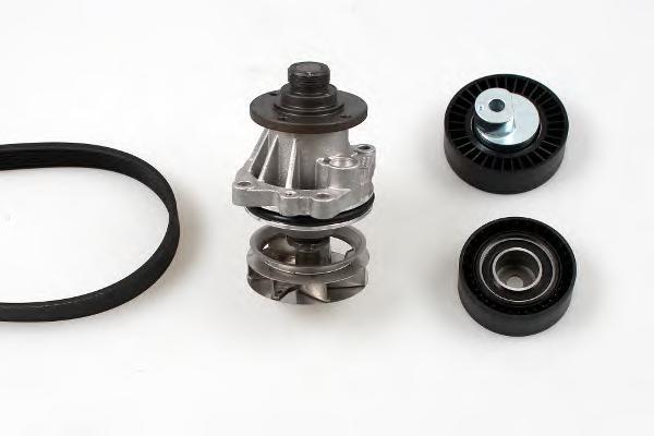 Водяной насос + комплект ручейковых ремней HEPU PK04720