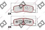 BP1806 DJPARTS Комплект тормозных колодок, дисковый тормоз