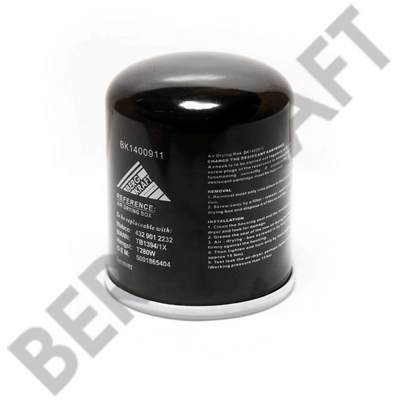 BK1400911 BERGKRAFT Патрон влагоотделителя с фильтрованием коалесценции RHT:M39x1,5mm (M+H:TB1394/1X) MB/MAN/VOLVO/RVI