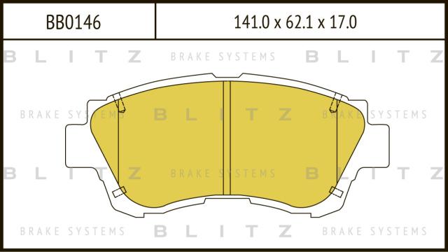 Колодки тормозные дисковые BLITZ BB0146