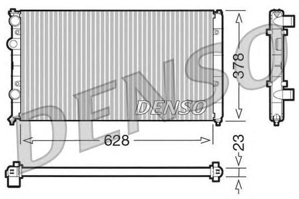 DRM32035 DENSO Радиатор, охлаждение двигателя