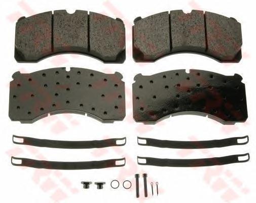 GDB5082 TRW Комплект тормозных колодок, дисковый тормоз