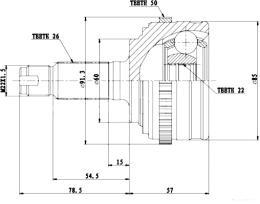 ШРУС наружный HDE 106001