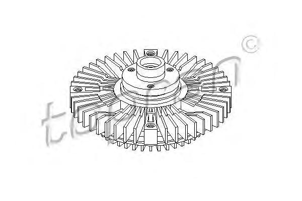 Сцепление, вентилятор радиатора HANS PRIES 109607