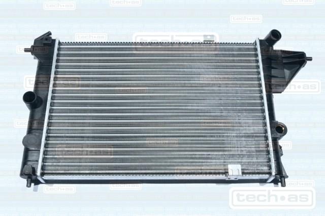 1002O124 TECH-AS Радиатор охлаждения двигателя