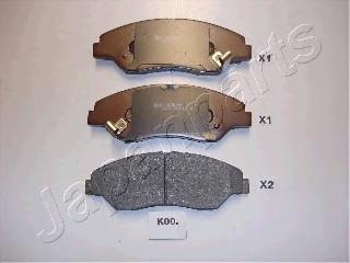PAK00AF JAPANPARTS Комплект тормозных колодок, дисковый тормоз