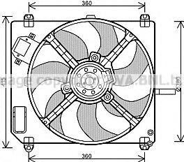 FT7551 AVA Вентилятор, охлаждение двигателя