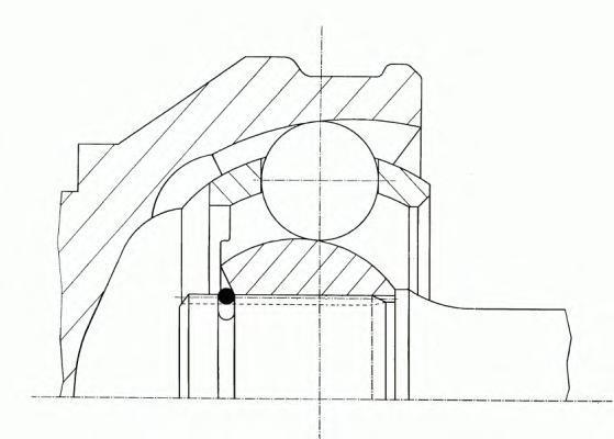 Шарнирный комплект, приводной вал GKN (LOEBRO) 304829