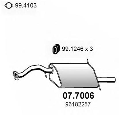 Глушитель выхлопных газов конечный ASSO 077006