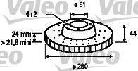 186655 VALEO Тормозной диск