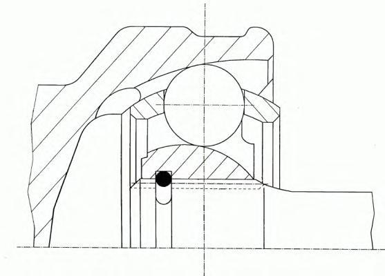 Шарнирный комплект, приводной вал GKN (LOEBRO) 302781