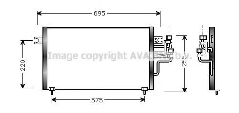 Радиатор кондиционера AVA MT5119