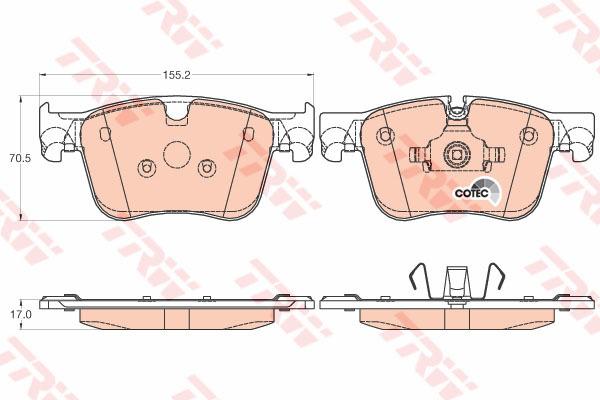 GDB2035 TRW/LUCAS Комплект тормозных колодок, дисковый тормоз