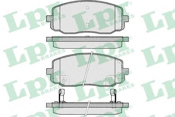 05P1220 LPR Комплект тормозных колодок, дисковый тормоз