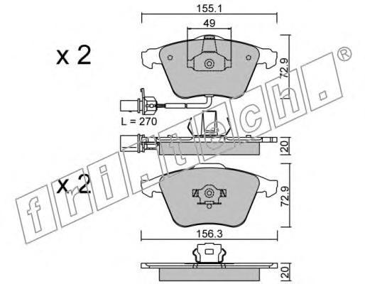 Комплект тормозных колодок, дисковый тормоз FRI.TECH. 5651