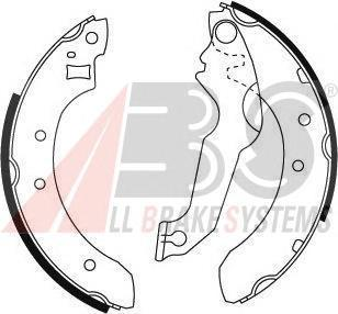 8794 ABS Комплект тормозных колодок