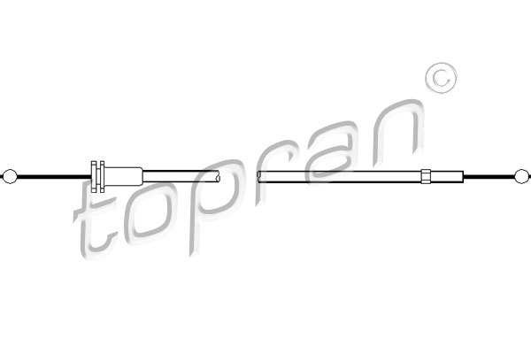 109859 TOPRAN Тросик замка капота
