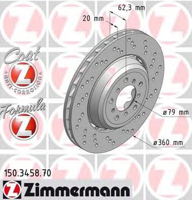 Тормозной диск ZIMMERMANN 150345870
