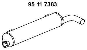 Средний глушитель выхлопных газов EBERSPACHER 95117383
