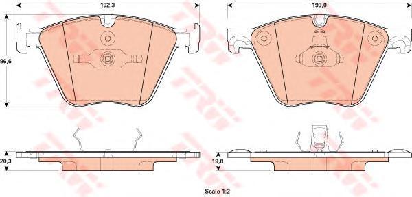 GDB1915 TRW/LUCAS Комплект тормозных колодок, дисковый тормоз