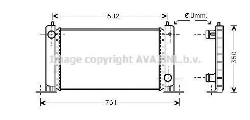 FT2251 AVA Радиатор, охлаждение двигателя