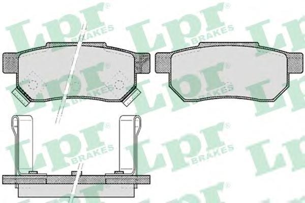 05P507 LPR Комплект тормозных колодок, дисковый тормоз