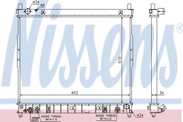 64318 NISSENS Радиатор системы охлаждения