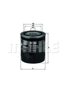 OC80 MAHLE/KNECHT Масляный фильтр