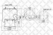 9002851SX STELLOX Кожух пневматической рессоры