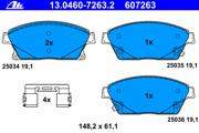 13046072632 ATE Комплект тормозных колодок, дисковый тормоз