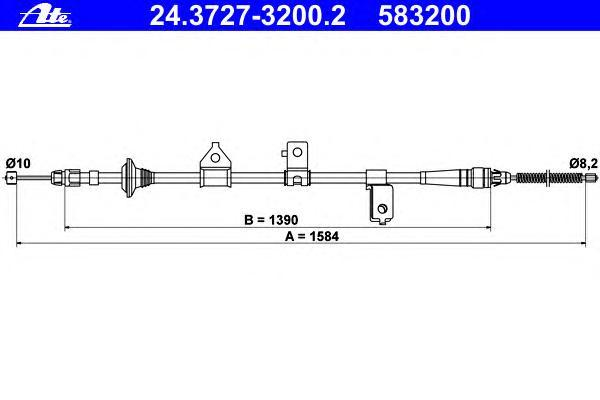 24372732002 ATE Трос, стояночная тормозная система