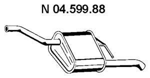 Глушитель выхлопных газов конечный EBERSPACHER 0459988