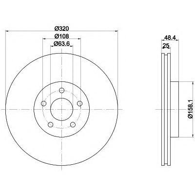 Тормозной диск TEXTAR 92262203