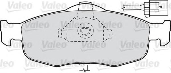 598034 VALEO Комплект тормозных колодок, дисковый тормоз