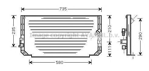 TO5279 AVA Конденсатор, кондиционер