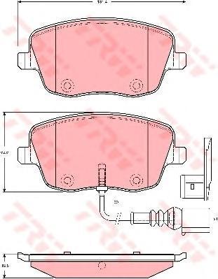 GDB1472 TRW/LUCAS Комплект тормозных колодок, дисковый тормоз