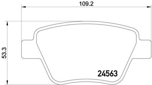 8DB355014021 BEHR-HELLA Комплект тормозных колодок, дисковый тормоз