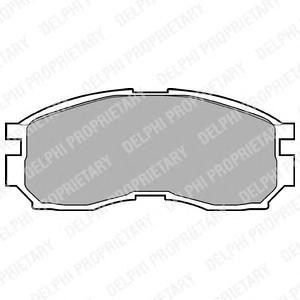LP803 DELPHI Комплект тормозных колодок, дисковый тормоз