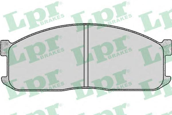 05P039 LPR/AP Комплект тормозных колодок, дисковый тормоз