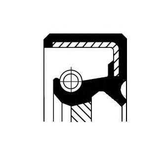 Уплотняющее кольцо, коленчатый вал CORTECO 15035028B